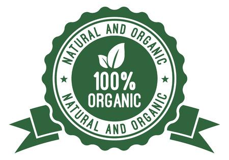 100% Organic Badge