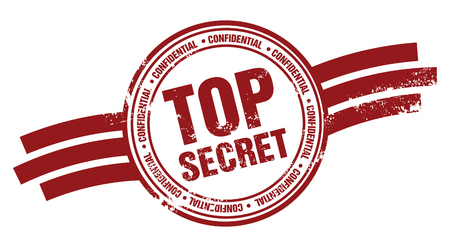 Timbre Top Secret Vecteurs