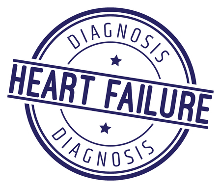 Heart Failure. Diagnosis Stamp. 向量圖像