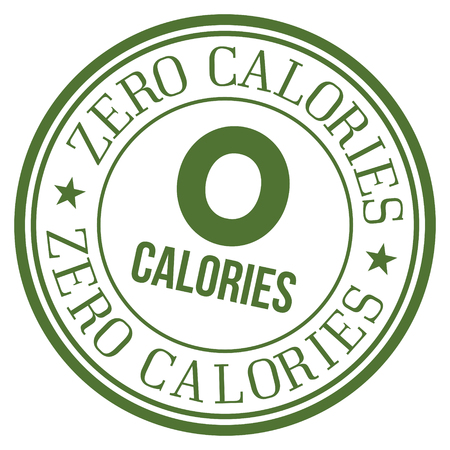 Zero Calories Stamp. Illustration