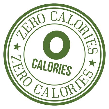 Zero Calories Stamp. Ilustração