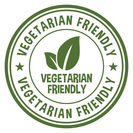 Vegetarian Friendly. Ilustração