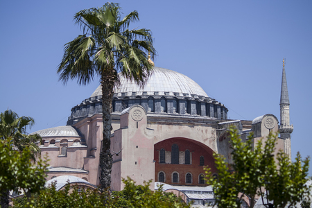 View Of Hagia Sophia On A Summer Day