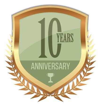 10 Years Anniversary Badge on white