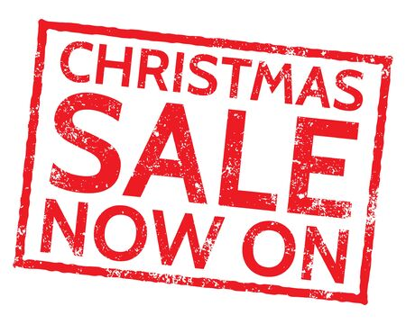 Christmas Sale Now On Stamp on white