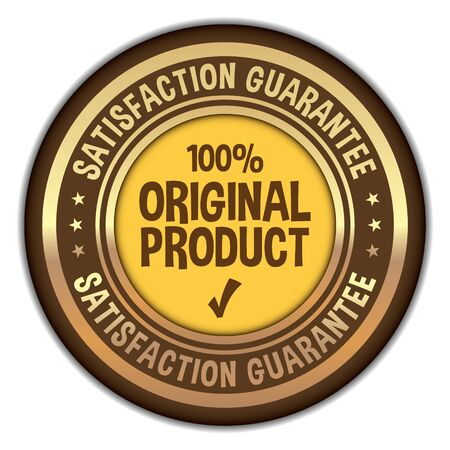 100% Original Product stamp on white