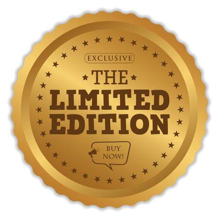 Limited Edition Badge on white Ilustração