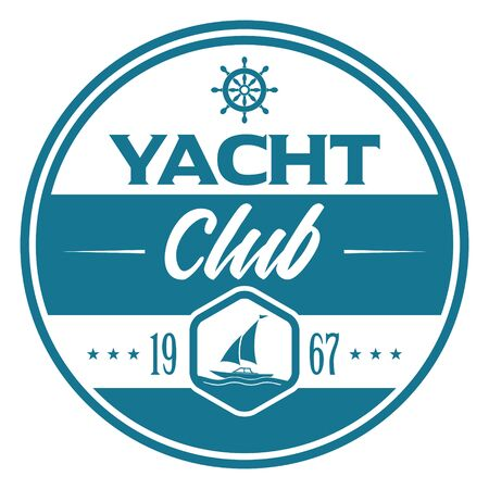 Yacht Club Icon on white Ilustração