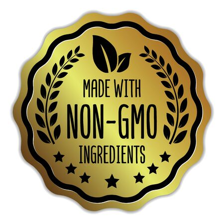 Made With Non-Gmo Ingredients badge on white