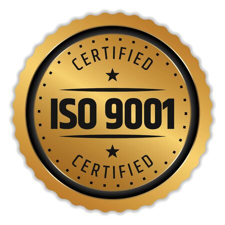 ISO 9001 Certified Badge badge on white 일러스트