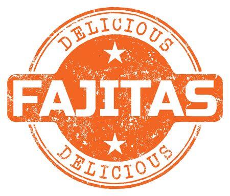 Delicious Fajitas. Vector Rubber Stamp. Ilustração