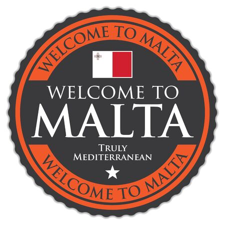Welcome To Malta Illustration