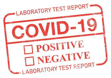 Covid-19 Coronavirus Test Report.