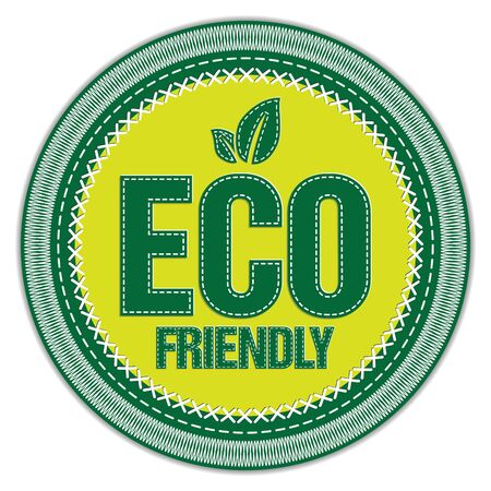 Eco Friendly Stitched Label on white