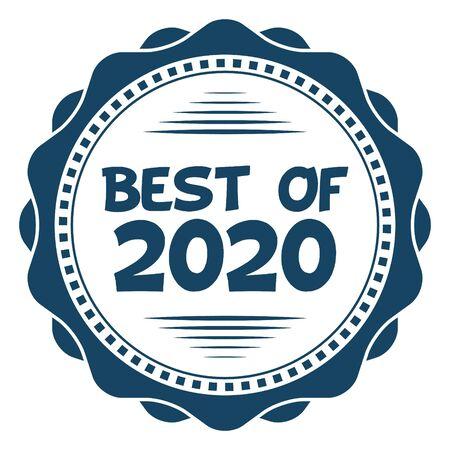Best of 2020 Vector Stamp on white Illustration