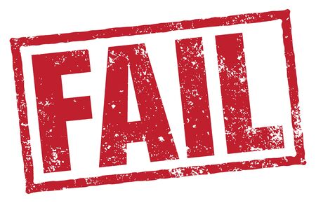 Fail Vector Rubber Stamp on white
