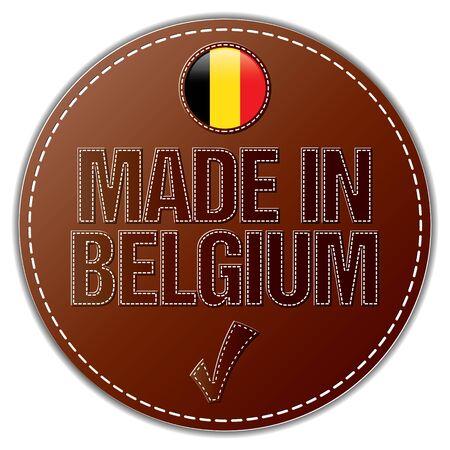 Made In Belgium vector Illustration