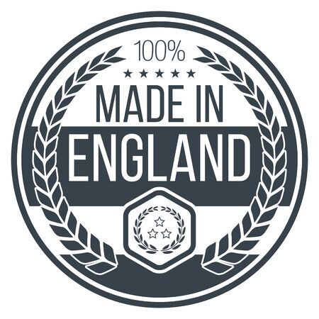 Made In England Vector Icon.