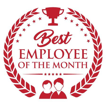 Best Employee of The Month. Vector Icon.