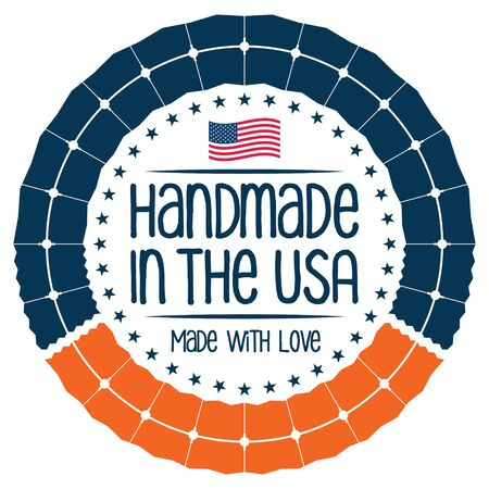 Handmade in The USA. Vector Icon.