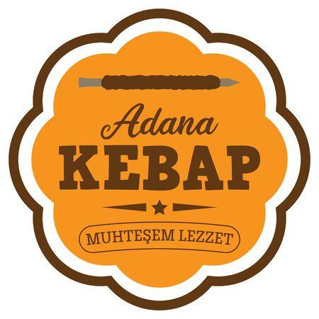 Adana Kebab (Kebap) Badge in Turkish
