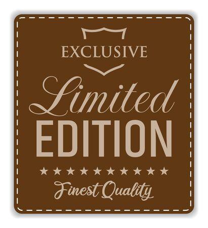 Limited Edition. Vector Stitched Label. Ilustração
