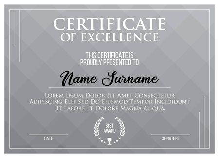 Modern Certificate Template. Diploma.