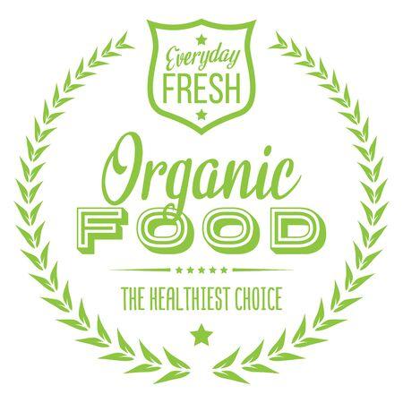 Organic Food. Vector Icon.