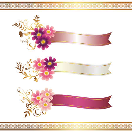 cosmos with ribbon Vector