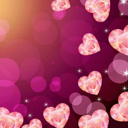 heart decoration background Stock Vector - 11448950
