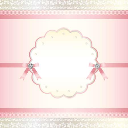 かわいいピンク フレーム  イラスト・ベクター素材