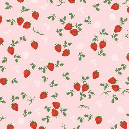 딸기 배경 일러스트