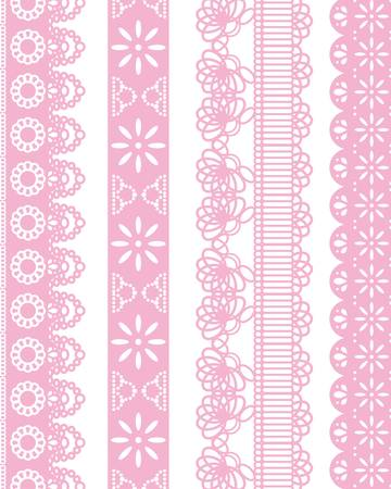 doilies: straight lace Illustration