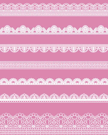 lace doily: straight lace Illustration