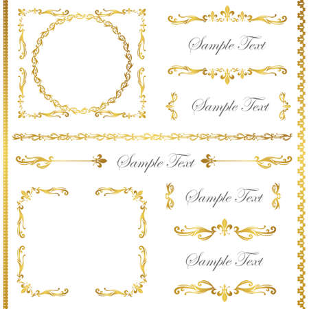 gold frame set Stock Vector - 11448971