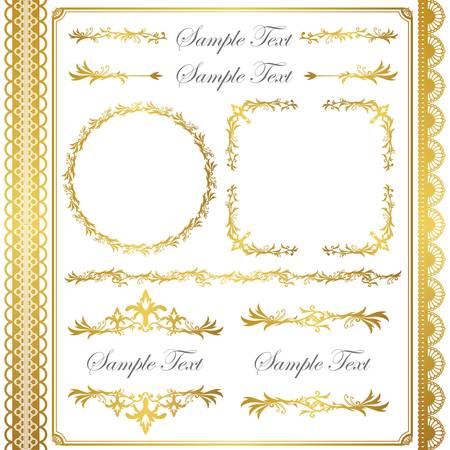 gold frame set Stock Vector - 11448917