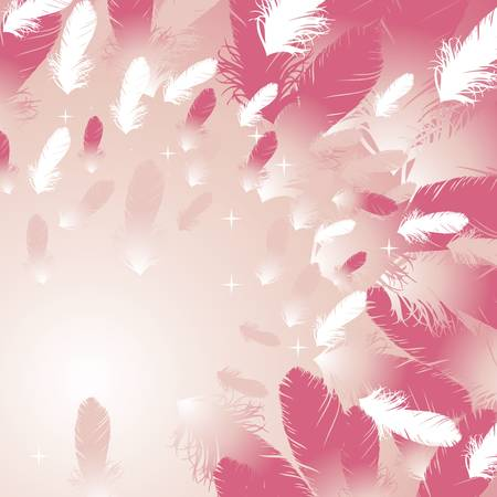 feather background pink Vector