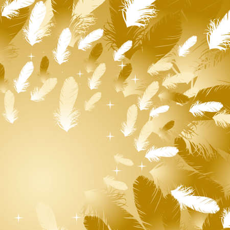 feather background gold