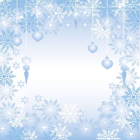 crystallization: crystal blue background Illustration