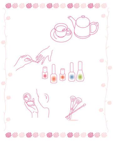 manicure pink: beauty salon