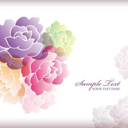 camellia background Vector