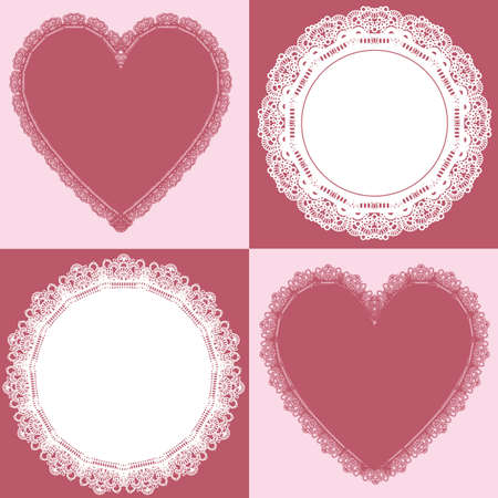 doily: circle and heart lace