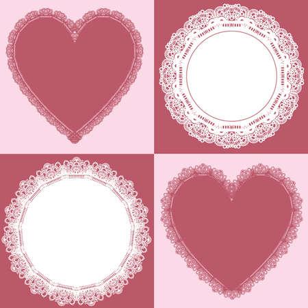 Kreis und Herz Spitze Vektorgrafik