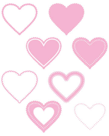 sweet heart lace frame Vector