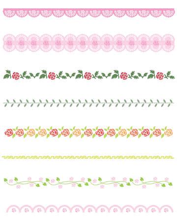 rose line Vector