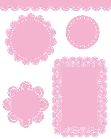 pink lace Vector