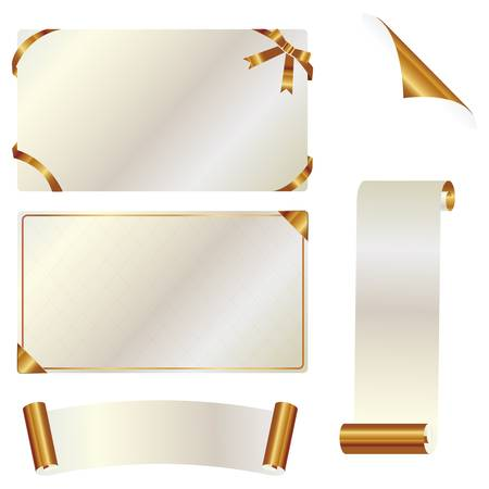 silver ribbon: gold card set Illustration