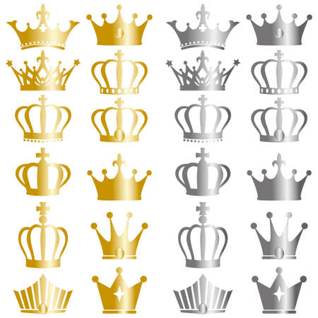 corona de princesa: corona conjunto Vectores