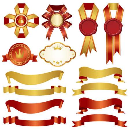 set of ribbon Vector