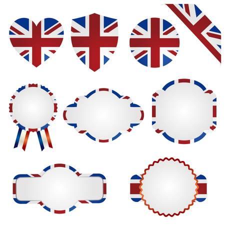 bandiera inglese: regno unito Union Jack set Vettoriali